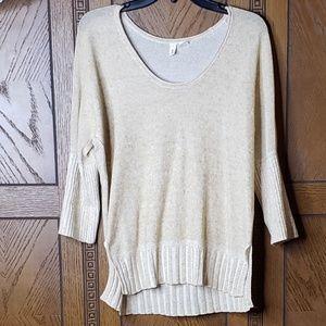 Anthropologie Moth Cream Long Sleeve Sweater